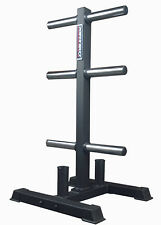 Power Maxx Olympic Weight Plate Stand CGVTOLYST //  Storage Rack Gym Compact