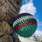 Vintage Hand Blown Glass Art Ball Red White Blue Fishing Net Float Buoy