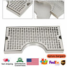 """Stainless Steel Drip Tray with Cutout for Tower - Large 12"""" x 7"""" Beer Drip"""