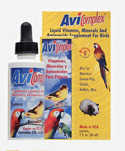 AVICOMPLEX LIQUID VITAMINS, MINERALS &AMINOACIDS SUPPLEM FOR BIRDS& SMALL ANIMAL