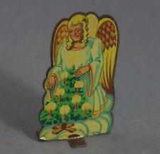 Alter Weihnachtsschmuck - Engel mit Christbaum, Aufsteller ~ 1920   (# 11549)