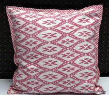 Hand Block Printed Ikat Cushion Cover Ethnic Indian Handmade Pillow Case Art