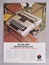 Olivetti Lexikon 82 Typewriter PRINT AD - 1976