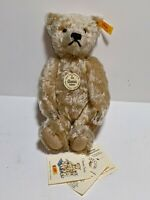 Steiff Classic Teddy Bear Light Blonde 25 cm 000645 Mohair With Tags