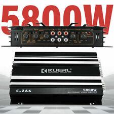 5800 Watt Car Power Amplifier 4 Channel Audio Amp Stereo Speaker Alloy 12V