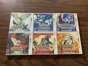 Pokemon X+Y +Alpha Sapphire +Omega Ruby +Sun +Moon (Nintendo 3DS LOT) Complete