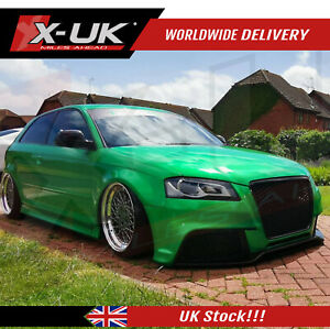 Audi A3 S3 8P 2009-2012 RS3 style front bumper body kit upgrade with grill