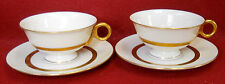 HAVILAND New York china GOTHAM Cup & Saucer - Set of Two (2) - 2-1/8""