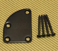 HN-008-BK Narrow Black Deluxe Cutaway Heel 4-Bolt Guitar Neck Plate w/Screws