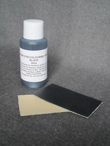 Leather colour restorer for worn & faded shoes boots BLACK paint dye pigment