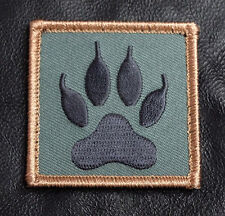 WOLF TRACKER PAW EMBROIDERED MILITARY TACTICAL MORALE hook PATCH