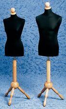 Busto Espositore Busti Manichino Sartoria Uomo o Donna Base Legno con Testina