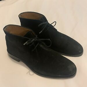 Russell & Bromley Mens Black Suede Desert Boots UK 7