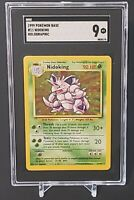 SGC 9 NIDOKING 1999 Pokemon Base Unlimited #11/102 Holo Non-Shadowless Mint