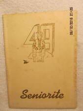 1949 Yearbook Huntingburg High School Indiana First SIAC Basketball Championship