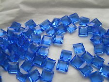 Pack of 72 Swarovski square channel stones in 8mm Sapphire color/uf. #4402/2