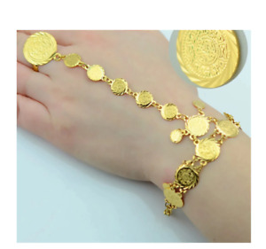 Gold Plated Wholesale Coin Bracelet Ring Lucky Gift Fashion Bestseller Jewellery