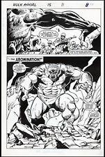 Incredible Hulk Annual #15 Splash Art by Sal Buscema Abomination