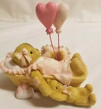 Cherished Teddies Bear Figurine Carolina Love Gives High Hopes Heart Balloons