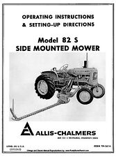 Allis Chalmers No. 82S  82-S Mower Owners Operators and Setting up Setup Manual