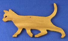 Walking Cat Christmas Ornament - Hand Cut From Walnut