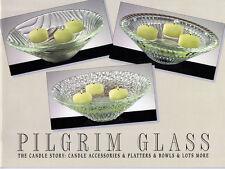 Pilgrim Glass Catalog #398, plates, bowls, candles