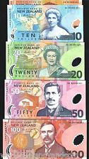 NEW ZEALAND 5 10 20 50 100 P185 -189 1999 MATCHING SERIAL # POLYMER UNC SET+FLDR
