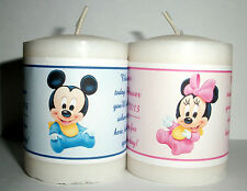 14 BABY MICKEY BABY MINNIE BABY SHOWER FAVORS VOTIVE CANDLE LABELS