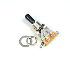 (D45) 3 Way Toggle Switch Pickup Selector for Electric Guitar ,Chrome/black Tip