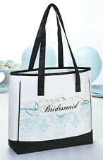 Bridesmaid aqua tote bridesmaids gift wedding party gift