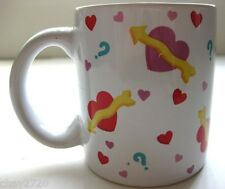 PRE-OWNED TELEFLORA HEARTS WITH EXPRESSION WHITE CERAMIC MUG, Made in Thailand