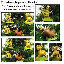 Disney Lion King Christmas Ornament 4pc Set FeaturingSimba, Nala, Timon, Pumba