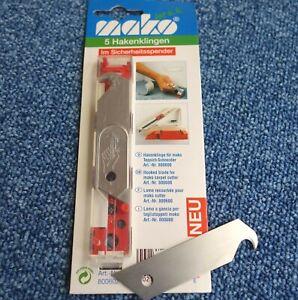 5 Ersatzklingen Hakenklingen 18 mm passend für Cuttermesser 18 mm Neu