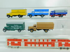 BO464-0,5 #5x Wiking H0 / 1:87 Camion Mercedes: Post + Br + Honold + Civile