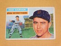 VINTAGE OLD 1950S BASEBALL 1956 TOPPS CARD NED GARVER DETROIT TIGERS