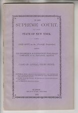 1872 NY SUPREME COURT CASE - SCOTT v RHINEBECK & CONNECTICUT RR - COLUMBIA CNTY