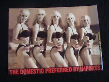 Old Milwaukee beer poster Swedish Bikini Team 2Sided 1991