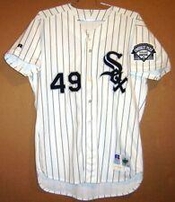 Chicago White Sox Luis Andujar 1996 Game Worn White Pinstripe Mlb Jersey