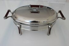 Stainless Steel Chafing Dish with Glass Food Tray 3 Litres - Oval