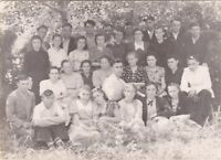 1950s Group of students young women men friends fashion old Soviet Russian photo