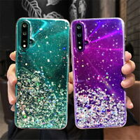 For Huawei P40 Lite P20 Pro Mate 30 20 Bling Glitter Clear Soft Phone Case Cover
