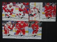 2018-19 Upper Deck UD Detroit Red Wings Series 2 Team Set of 7 Hockey Cards