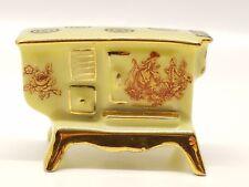 VTG Miniature Doll House Yellow Porcelain Old Stove Limoges France Porcelaine