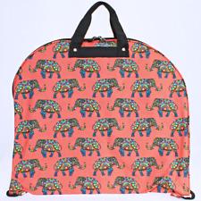 NEW HANGING GARMENT BAG LUGGAGE TRAVEL CHEER CORAL PRINT ELEPHANT CANVAS DANCE