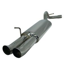 Silencieux Inox BMW e36 4 cylindres 2x76mm DTM