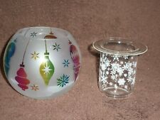 Partylite Holiday Baubles Tealight Holder - Nib
