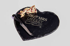 Personalised Large Slate Heart Cheese Board, Any Message Engraved, 2 designs!