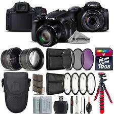 Canon PowerShot SX60 HS Camera + 7 PC Filter Kit + Extra Battery - 16GB Bundle