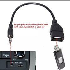 3.5mm JACK AUX Audio Plug a USB 2.0 Femmina Convertitore Cavo Cavo Di Piombo
