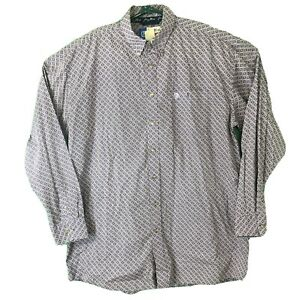 WRANGLER George Straight Purple Geometric Print Shirt Long Sleeve  2XLT